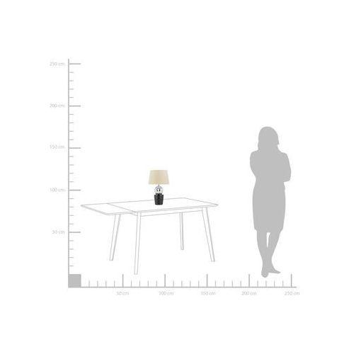 Lampa stołowa srebrno-czarna VELISE (4260624111438)