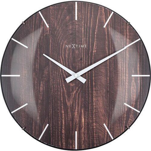 Zegar ścienny edge wood dome ciemne drewno