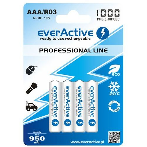 "Everactive 4x  r03/aaa ni-mh 1000 mah ready to use ""professional line"""