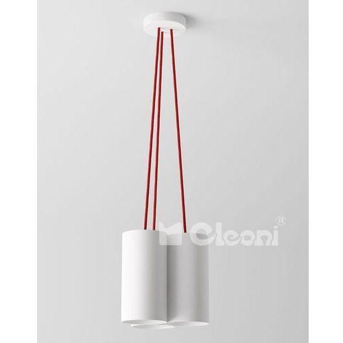 Lampa wisząca certo b3a z czerwonymi przewodami, 1291b3a+ marki Cleoni