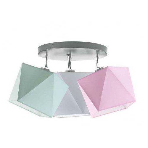 Lampa plafoniera MINORKA do pokoju dziecięcego granatowy, stal szczotkowana (+ 75zł)