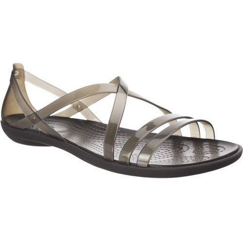 Crocs Sandały isabella strappy sandal black black/light grey