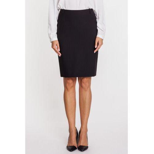 Klasyczna czarna spódnica ołówkowa - Sobora, kolor czarny