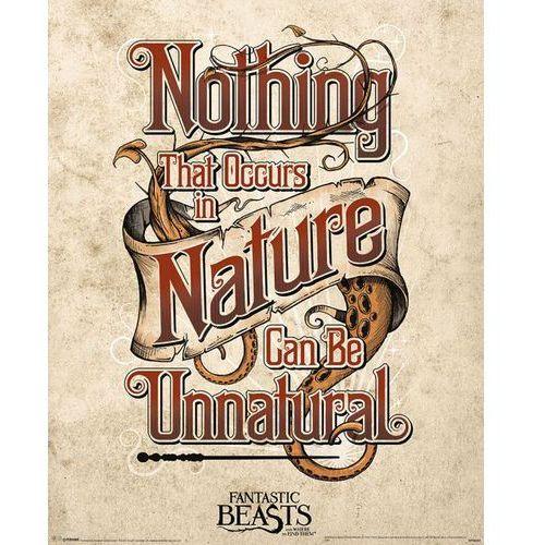 Gf Fantastyczne zwierzęta i jak je znaleźć nienaturalne - plakat