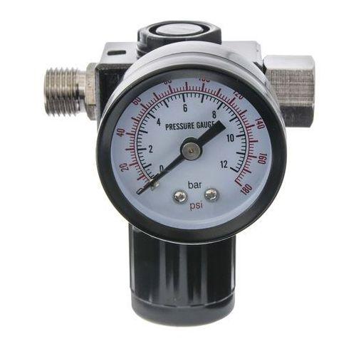 """Pozostali Regulator ciśnienia z manometrem reduktor powietrza 1/4"""" - obudowa - poliweglan"""
