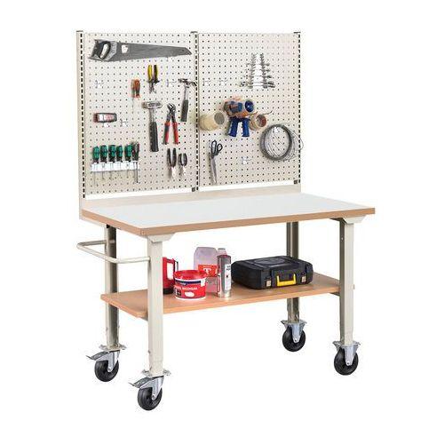 Aj produkty Mobilny stół roboczy solid 400, z wyposażeniem, 1500x800 mm, laminat