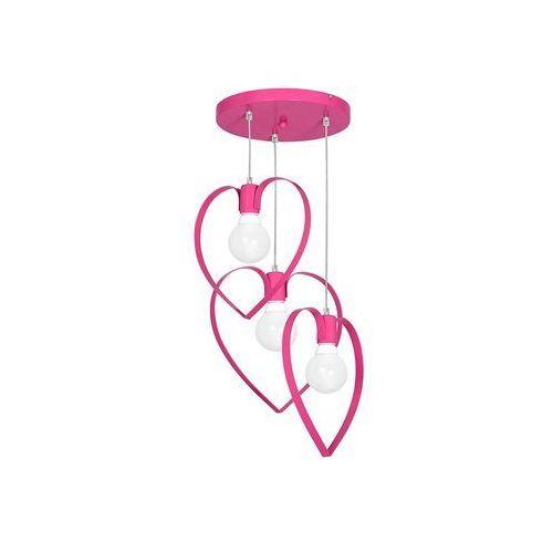 Dziecięca lampa wisząca LOVE 3xE27/60W/230V różowa