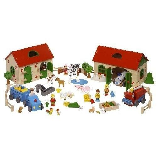 Klocki drewniane dla dzieci - Drewniana farma