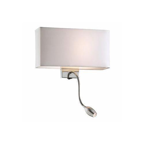 Ideal Lux 35949 - Kinkiet HOTEL AP2 BIANCO 1xE27/60W/230V + 1x1W/LED/230V (8021696035949)