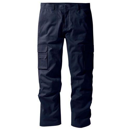 """Spodnie """"bojówki"""" z powłoką z teflonu regular fit straight ciemnoniebieski marki Bonprix"""