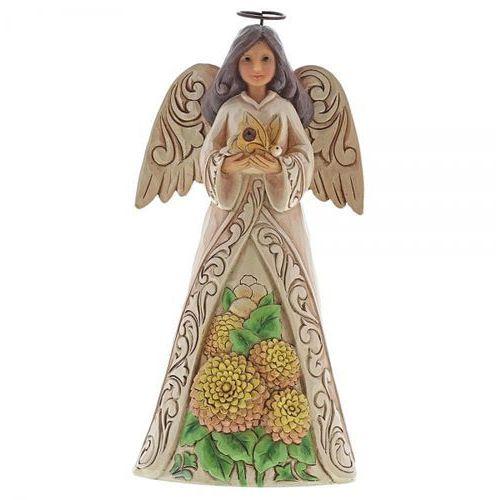 Jim shore Anioł listopad monthly angel figurine november angel 6001572 artysta , pamiątka narodzin, chrztu figurka dewocjonalia