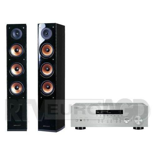 Yamaha MusicCast R-N303D (srebrny), Pure Acoustic NOVA 8 (czarny) - produkt w magazynie - szybka wysyłka!