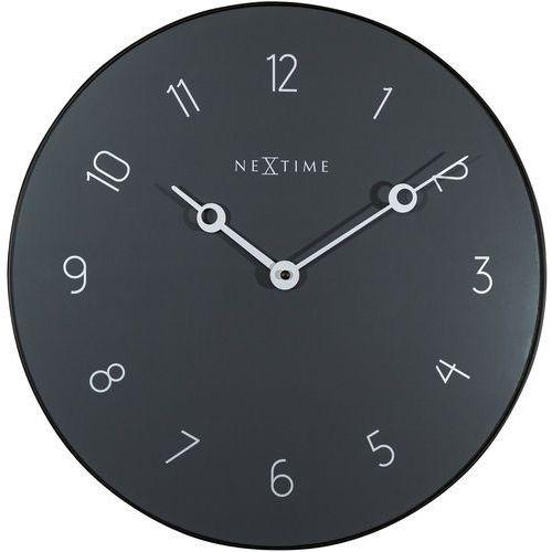 Zegar ścienny carousel szary 40 cm (8193 gs) marki Nextime