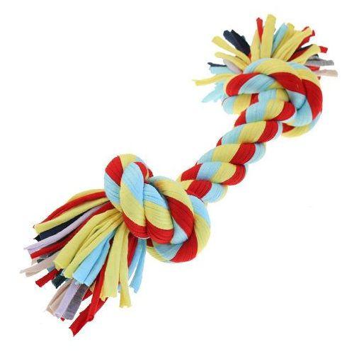 Gruby sznur dla psa knot tugger large w jaskrawych kolorach marki Happypet