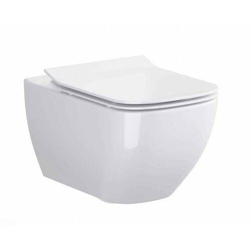 CERSANIT miska wc wisząca Virgo Clean On + deska Slim duroplast wolnoopadająca S701-427, S701-427