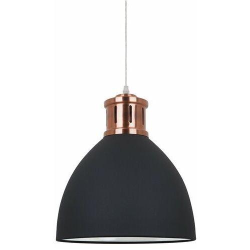 Lampa wisząca lola md-hn8100-b+rc industrialna oprawa metalowy zwis loft kopuła czarna marki Italux