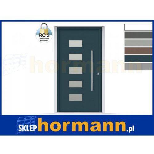 Drzwi aluminiowe ThermoSafe 2018, Wzór 502, kolor do wyboru, przeciwwłamaniowe RC 3