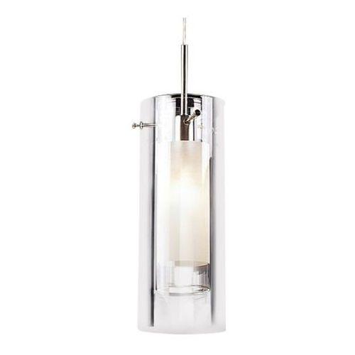 Italux Lampa wisząca terni md0118f-1  zwis szklana oprawa zwis tuba biała przezroczysta