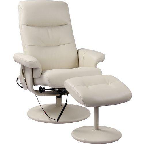 Fotel masujący z podnóżkiem modern marki Pro-wellness