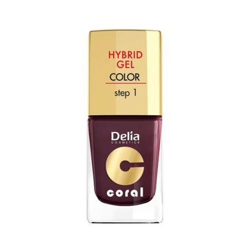 DELIA Hybrid Gel Step 1 11 Ciemny fiolet Żelowy lakier do paznokci