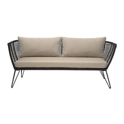 Bloomingville Sofa ogrodowa, czarny, metal -