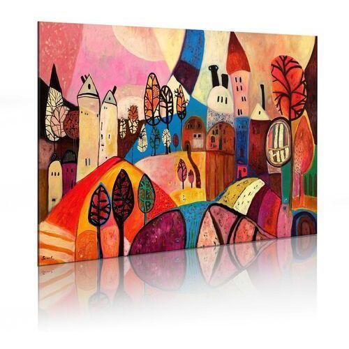 Obraz malowany - kolorowa wieś marki Artgeist