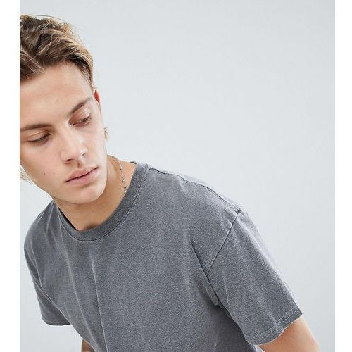 inspired oversized overdye t-shirt in charcoal - grey marki Reclaimed vintage