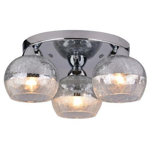 Plafon lampa oprawa sufitowa Candellux Cromina okrągły 3x60W E27 chrom 98-55637, 98-55637