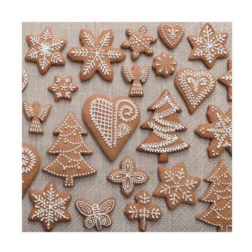 Serwetki świąteczne sweet gingerbreads 33 x 33 cm 20 szt. marki Paw decor