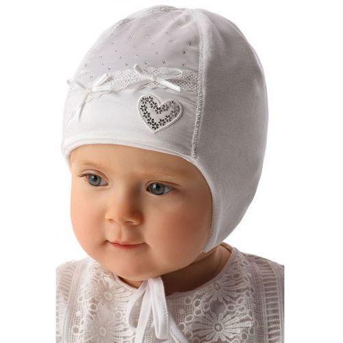 Marika Biała czapka niemowlęca wiązana 5x34a3 (5900298449244)