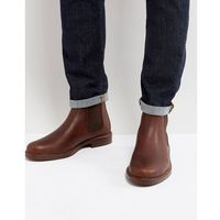Polo ralph lauren normanton chelsea boots leather in brown - brown