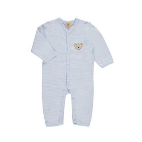 STEIFF Boys Baby Śpioszki paski baby blue, kolor niebieski