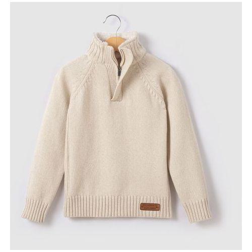 Ciepły sweter z kołnierzem na stójce i z zamkiem 3-12 lat