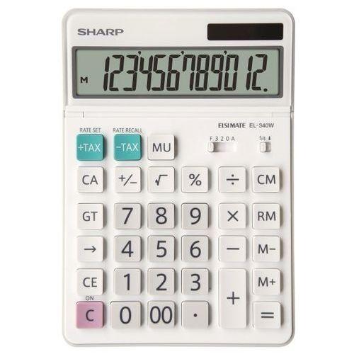 Kalkulator desktop box sh-el340w biały marki Sharp