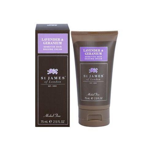 lavender & geranium krem do golenia dla mężczyzn 75 g pakiet podróżny + do każdego zamówienia upominek. wyprodukowany przez St. james of london