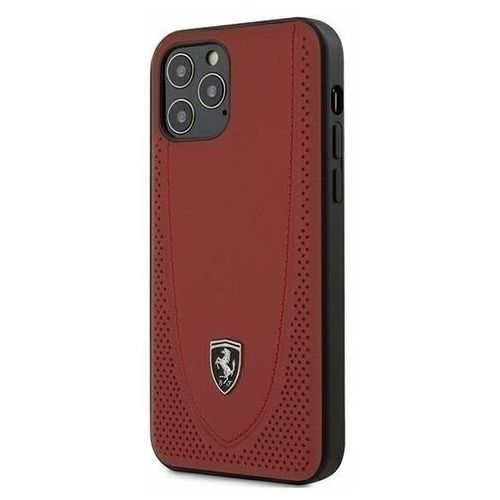 "Ferrari FEOGOHCP12MRE iPhone 12/12 Pro 6,1"" czerwony/red hardcase Off Track Perforated (3700740479278)"