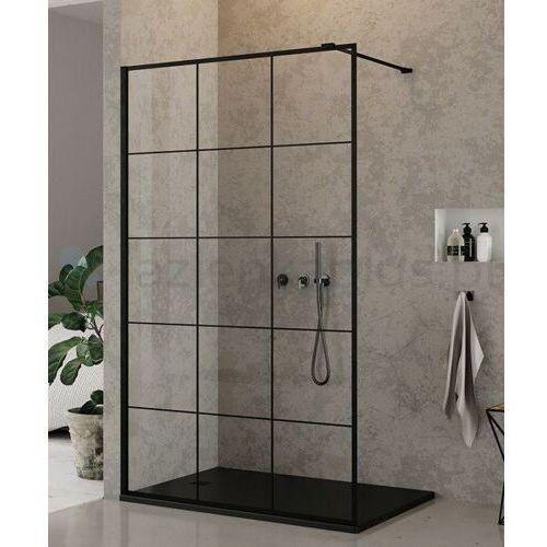 NEW TREDNY Ścianka prysznicowa 80cm czarne profile NEW MODUS BLACK EXK-0245 * WYSYŁKA GRATIS, EXK-0245