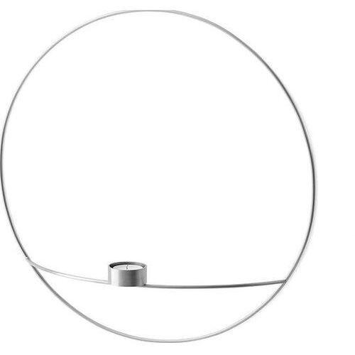 Menu Świecznik pov circle ścienny na tealight, l, srebrny - (5709262000784)