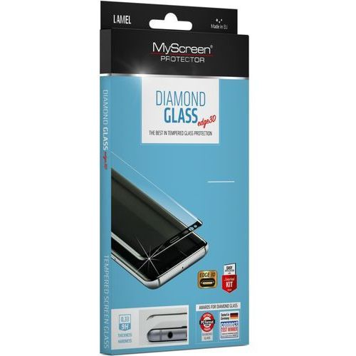Szkło Hartowane MyScreen Diamond Edge 3D Glass Samsung S9 Plus G965 black, MD3647TG 3D BLACK