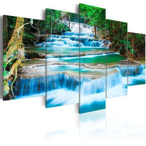 Obraz - Błękitny wodospad w Kanchanaburi, Tajlandia bogata chata