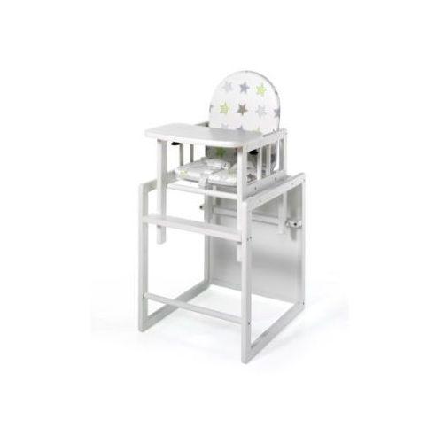 GEUTHER Krzesełko do karmienia Nico, biały- Gwiazdki