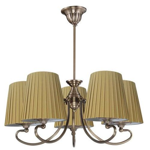 Lampa wisząca mozart 35-34083  plisowana oprawa abażurowy żyrandol beżowy marki Candellux