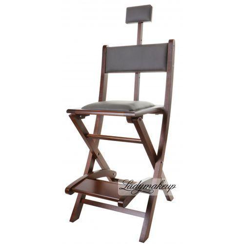 Krzesło wizażysty - BRĄZOWE, kup u jednego z partnerów