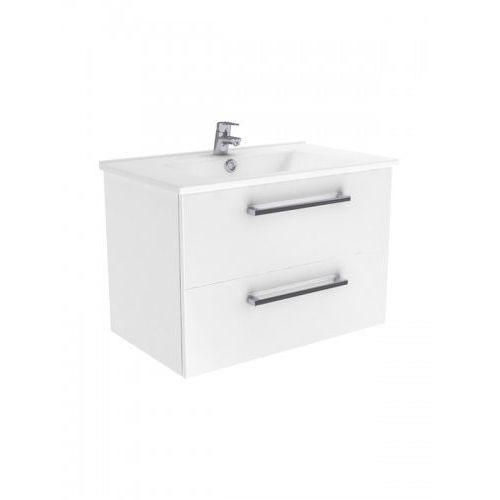 New trendy fargo szafka wisząca + umywalka biały połysk 55 cm ml-ar055