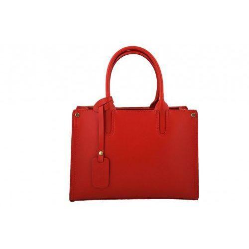 - torebki kuferki skórzane włoskie - czerwony marki Barberini's