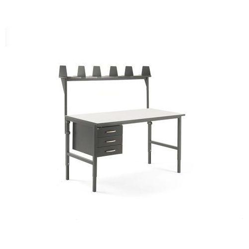 Stół cargo, 1600x750 mm, 3 szuflady, nadstawka marki Aj produkty