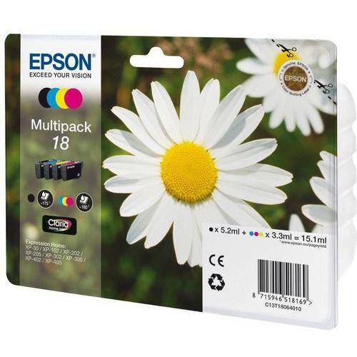 Zestaw tuszy Epson T1806 CMYK do drukarek (Oryginalny) [15.1ml]