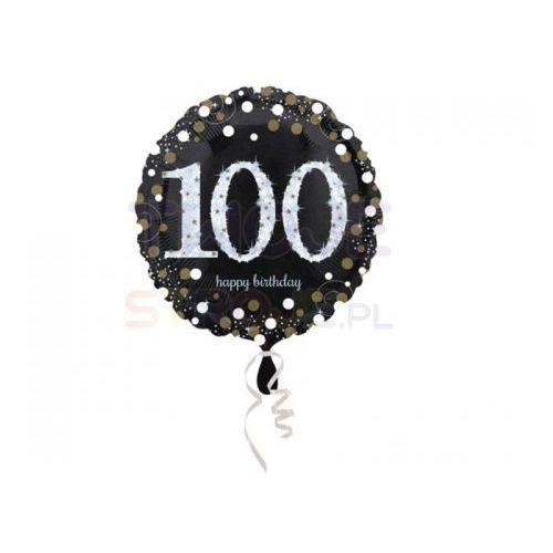 Balon 100 urodziny czarny 17'' 43cm marki Twojestroje.pl