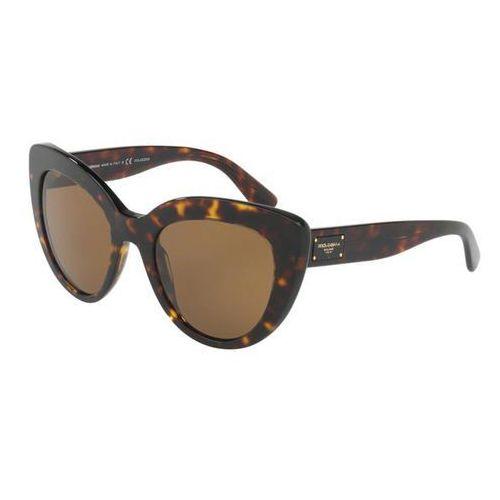 Okulary Słoneczne Dolce & Gabbana DG4287 Polarized 502/83, kolor żółty
