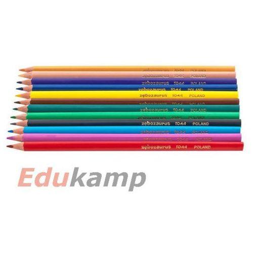 Kredki ołówkowe elastyczne zębozaurus 12 kolorów marki Toma